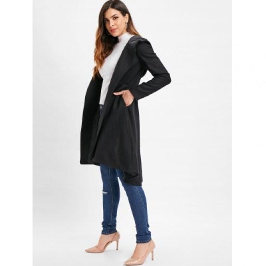Fluffy Hooded Coat