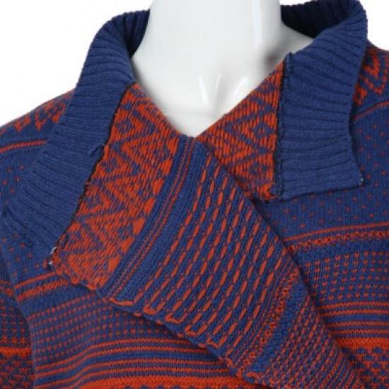 Jacquard Pattern Loose Cardigan