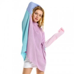 ZAN.STYLE Patchwork Sweater