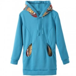 Thicken Solid Color Thicken Hooded Long Sleeves Hoody