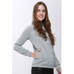 Solid Color Long Sleeve Hoodie For Women