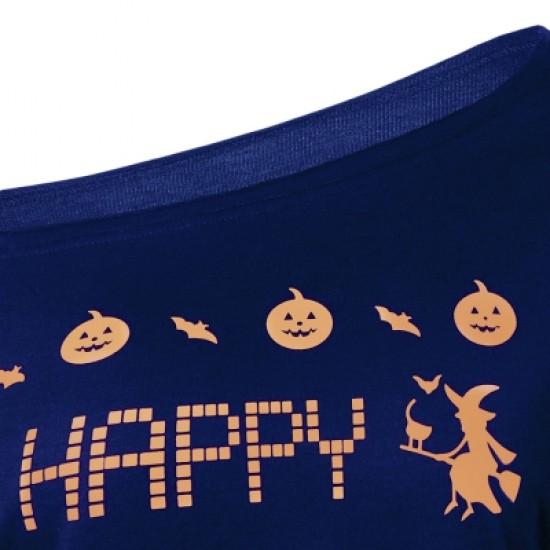 Witches Print Halloween Sweatshirt