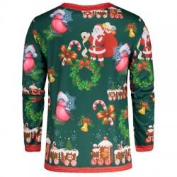 Santa Claus 3D Print Christmas Tee