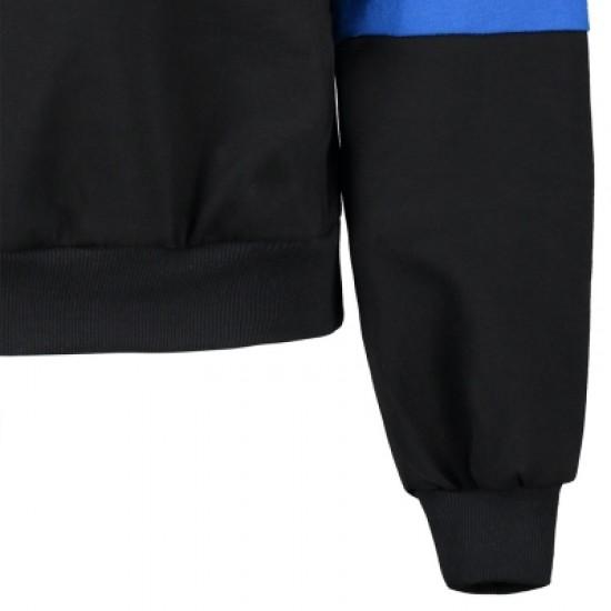 Color Block Kangaroo Pocket Hoodie