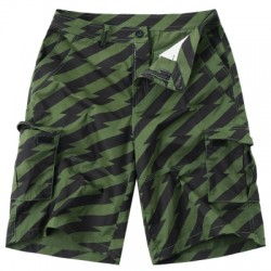 Diagonal Stripe Pockets Design Cargo Shorts