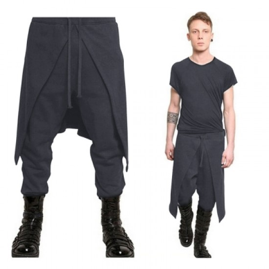 Orgshine Medieval Costume For Men Western Style Spliced Loose Pants