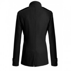 Stand Collar Long Sleeve Coat