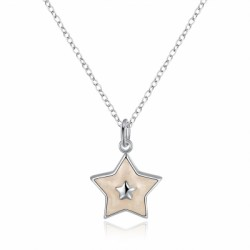 Another Silver Christmas Theme - White Pentacle Necklace