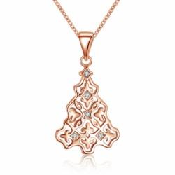 Zircon Necklace Christmas Tree Necklace