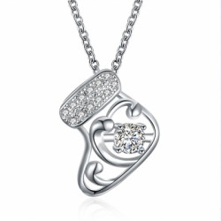 A White Zircon Necklace for Christmas