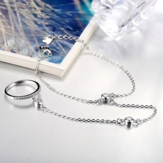 925 Pure Silver Personality Fashion Lady Bracelet