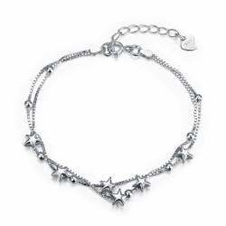 925 Pure Silver Romantic Star Bracelet