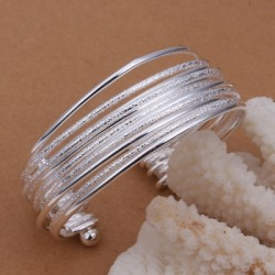 European and American Wind - Plated Silver Open Sand Light Bracelet