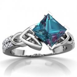 Exquisite Jewelry Princess Mystic Rainbow Ring