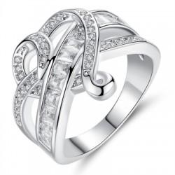 Fashionable Diamond Crystal Heart Ring